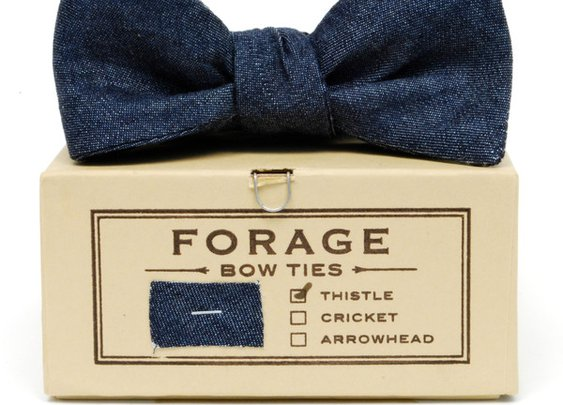 Forage - Indigo Denim Bow Tie