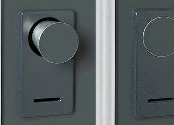 When this door is locked the doorknob disappears.