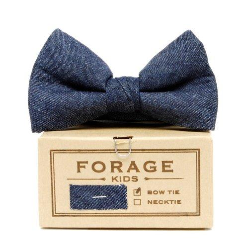 Forage - Indigo Denim Kids Bow Tie