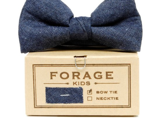 Forage - Indigo Denim Kids Bow Tie