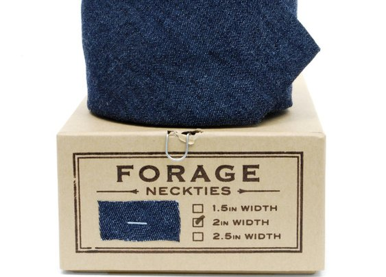 Forage - Indigo Denim Necktie
