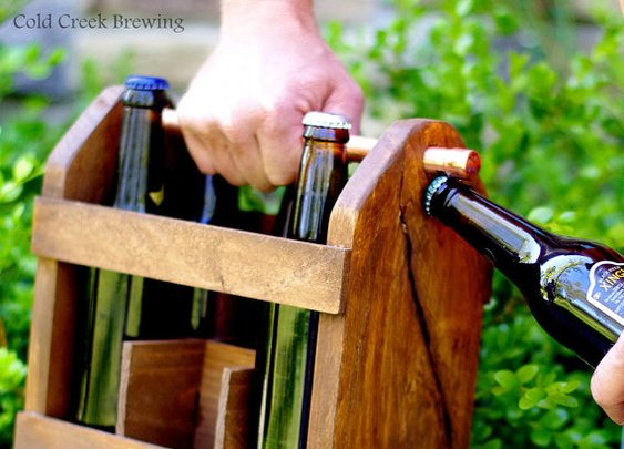 2 Beer Caddy  2 Home Brew Six Pack Carriers 2  by coldcreekbrewing