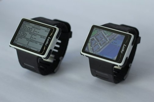 Leikr GPS sports watch maps your progress in color