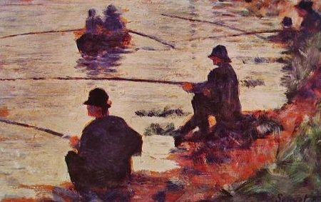 Fishing in The Seine :: Georges Seurat