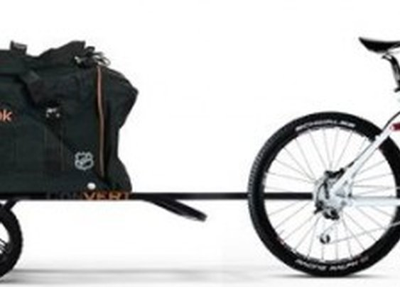 Bike trailer transforms into a cargo dolly