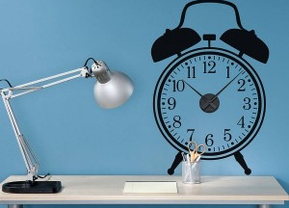 Working clock wall stickers from Spin Collective | Fresh Design Blog