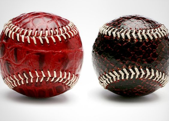 Crocodile And Snakeskin Baseballs From Bergino