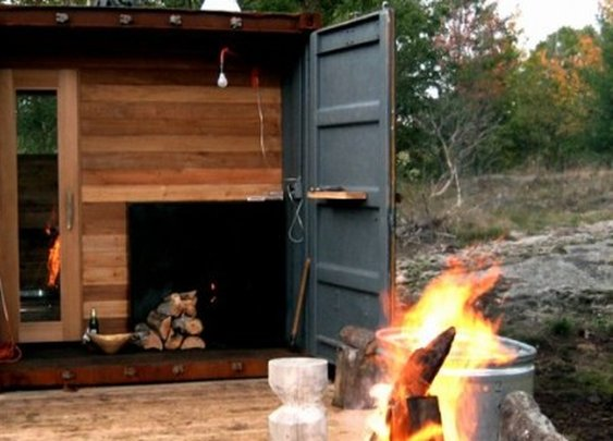 Sauna Box turns an old shipping container into a self-contained steam room