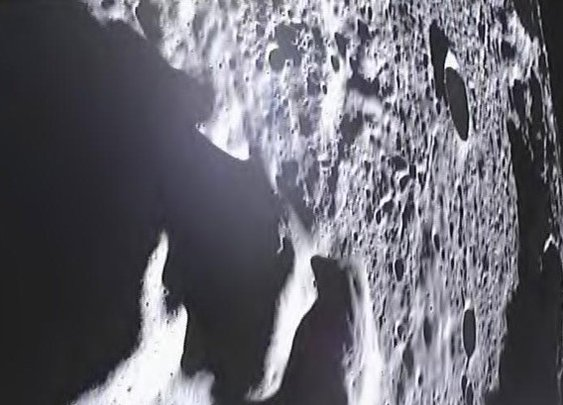GRAIL Moon probe: Footage of the lunar surface taken shortly before crash landing.