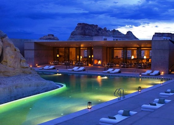Luxury Architecture Amangiri Resort in Canyon Point, Southern Utah
