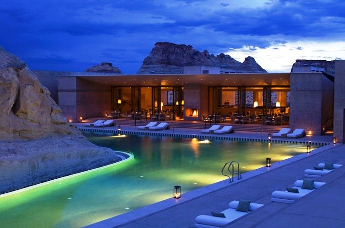 Luxury Architecture Amangiri Resort in Canyon Point, Southern Utah