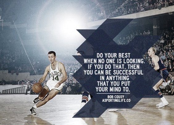 Sports Quotes / #bobcousy #sportsquotes #basketball