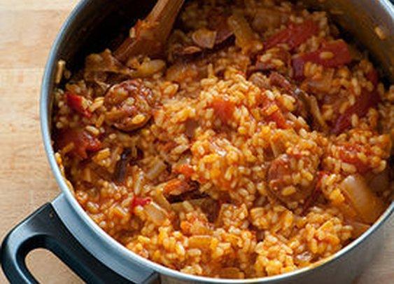 Easy Spanish Rice With Chorizo