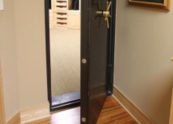 Vault Door to Secure Gun Storage Room   StashVault