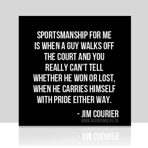 Sports Quotes / #jimcourier #sports  #quotes  #sportsquotes