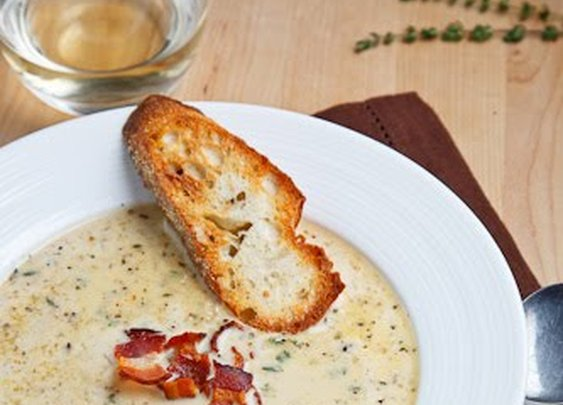 Closet Cooking: Roasted Cauliflower and Aged White Cheddar Soup
