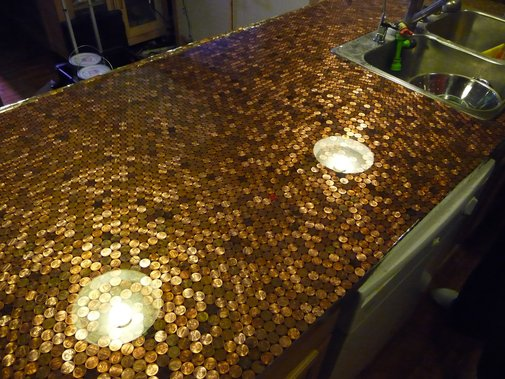 Install a Penny Countertop — DIY How-to from Make: Projects