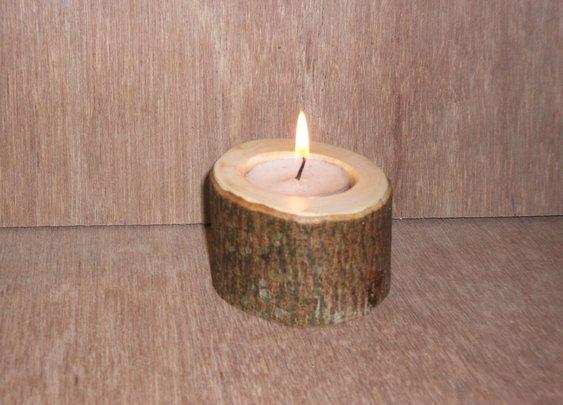 Make a simple 'natural' wooden Tea lite holder