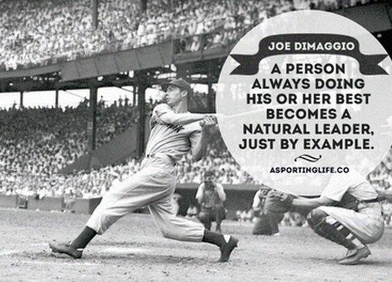 Sports Quotes / asportinglife.co #joedimaggio #baseball #sportsquotes #quotes