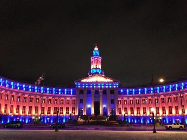 Twitter / MayorHancock: City and County Building lit ...