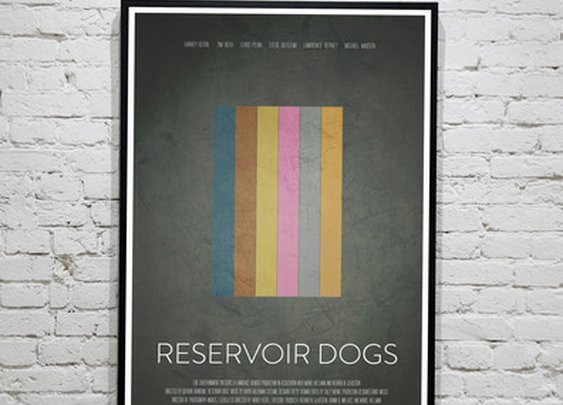 Reservoir Dogs Minimalist print | Calm The Ham