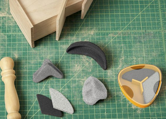 Quirky Sandables Moldable Sandpaper | Cool Material