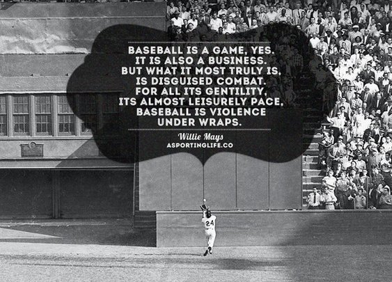Sports Quotes / asportinglife.co #williemays #sportsquotes #baseball
