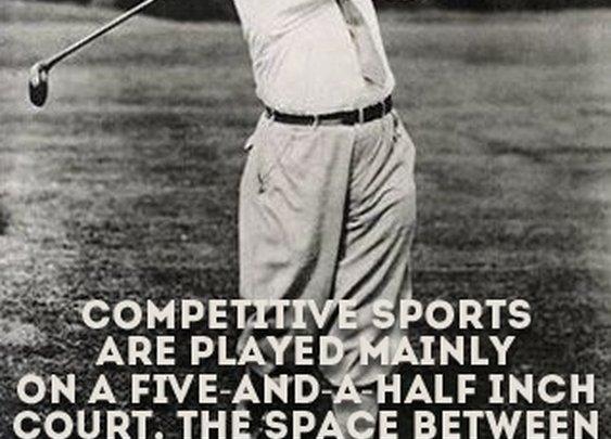 Sports Quotes / #bobbyjones #sports  #quotes  #sportsquotes