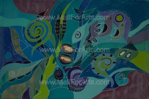 Full of optimism silk paintings - Dona Zlatanova