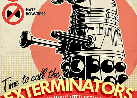"""Dalek Pest Exterminations "" Photographic Prints by Tom Trager 