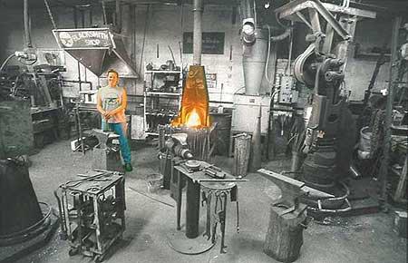 Lorelei Sims - Artist/Blacksmith - BLACKSMITHCHIC.COM - Take a Tour of Five Points Blacksmith Shop