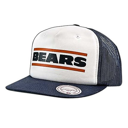 73efba879 Chicago Bears White and Navy Mesh Snapback Hat