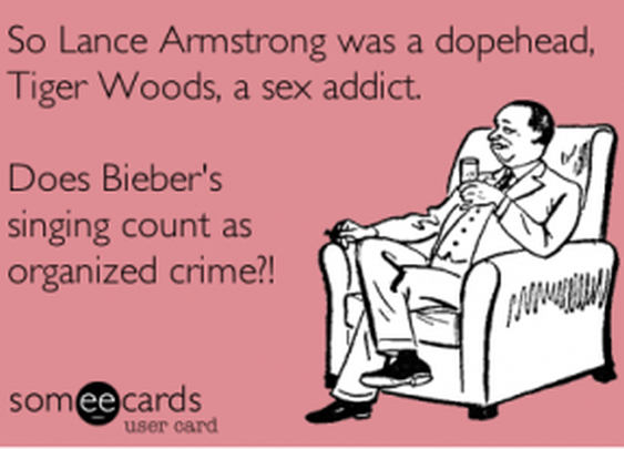 Armstrong and Bieber commit crimes