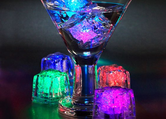 Colored LED Ice Cubes