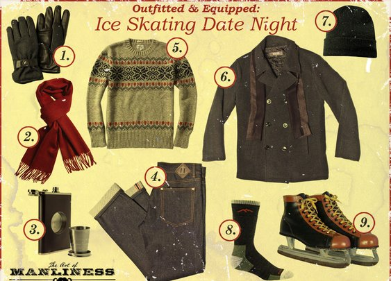 Outfitted & Equipped: Ice Skating Date Night | The Art of Manliness