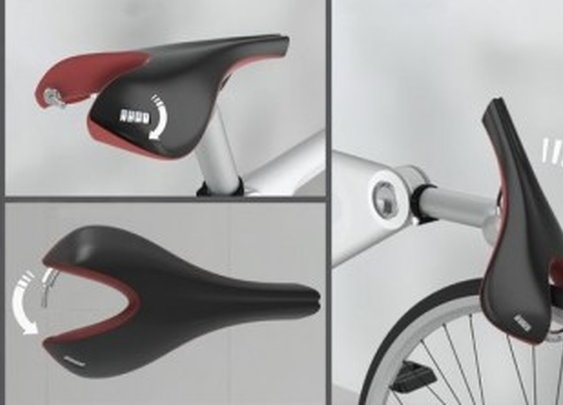 Saddle Lock provides built-in bicycle security