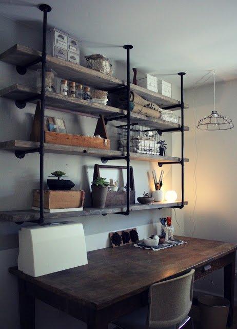 Industrial Rustic Shelf Tutorial