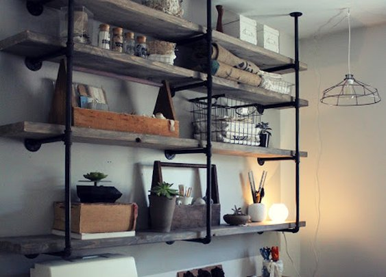 Industrial Rustic Shelf Tutorial
