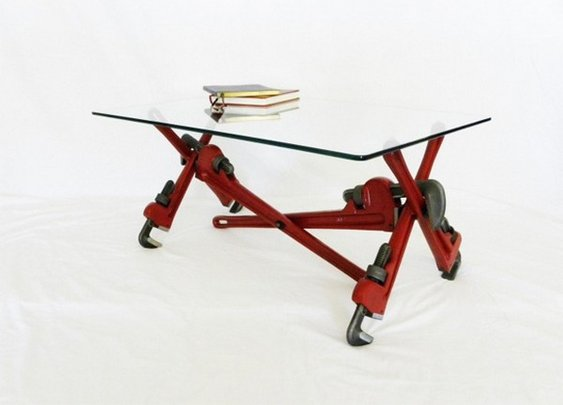 Pipe Wrench Coffee Table