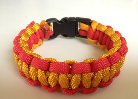 Semper Fi  USMC color paracord band by ParabandsByMJC on Etsy