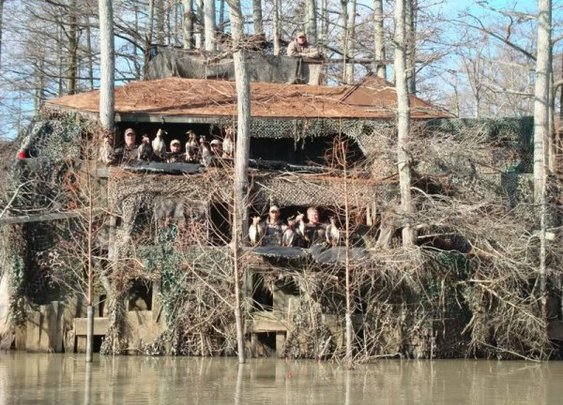 A remarkable duck blind