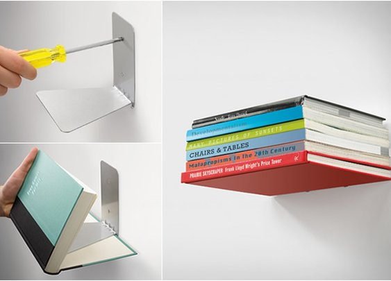 Invisible Bookshelf | That Should Be Mine