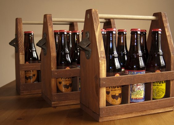 How to: Make a Wooden Beer Caddy | Man Made DIY | Crafts for Men | Keywords: craft, organization, beer, gift