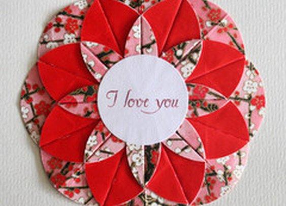 I Love You Origami Card