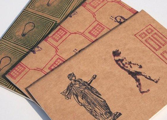Birthday Ideas / Moleskine pocket journal set geek retro by blackbirdandpeacock, $24.00