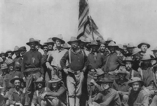 TR and his Rough Riders