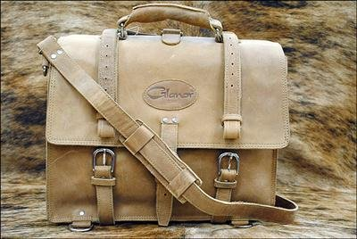 Rustic Vintage Leather Briefcase