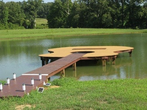 Guitar-Shaped Dock