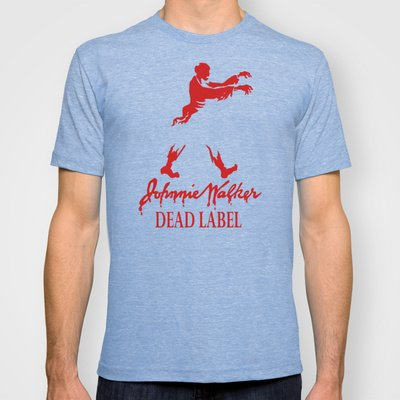 Johnny Walker Dead Label T-shirt by Karen Hallion Illustrations | Society6