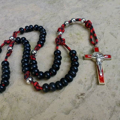 Firefighter's Paracord Rosary